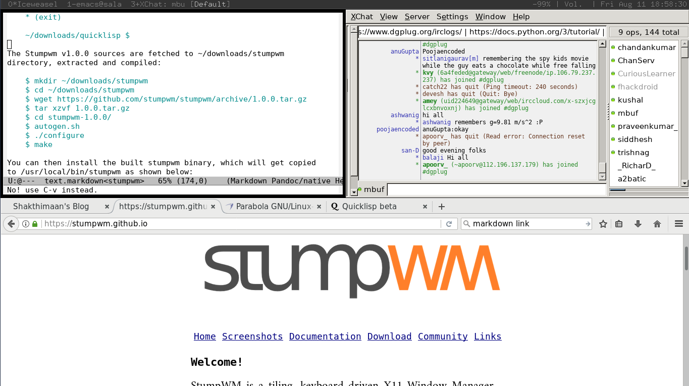 StumpWM screenshot