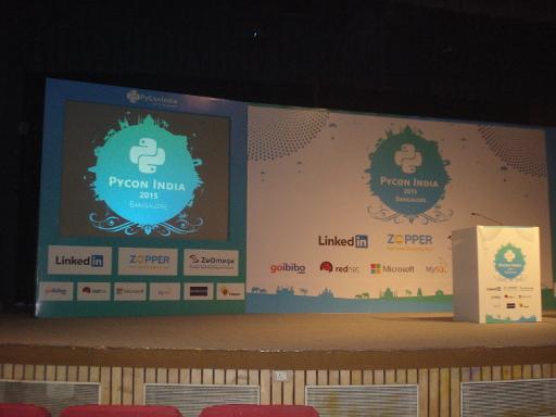 PyCon India 2015 stage